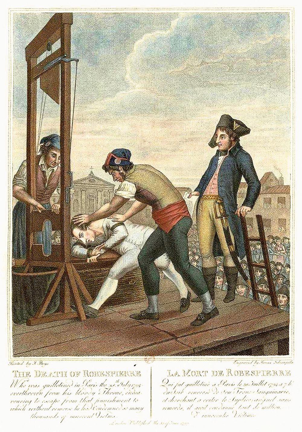 """fot """"Śmierć Robespierre'a"""". Jeden z przywódców rewolucji francuskiej został zgilotynowany 28 lipca 1794 r."""
