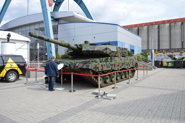 Leopard 2PL podczas XXV MSPO (Foto: Wojciech Gargała)